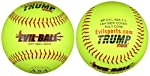 Trump® MP-EVIL-ASA-Y-2 Evil Sports 12 Inch Softball - Premium Yellow Leather Cover - ASA Approved (Sold in Dozens)