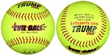 Trump MP-EVIL-ASA-Y-2 Evil Sports 12 Inch Softball - Premium Yellow Leather Cover - ASA Approved (Sold in Dozens)