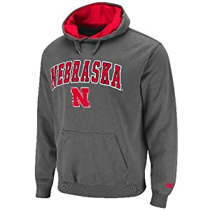 Nebraska Cornhuskers NCAA 2013 Automatic Pullover Hooded Sweatshirt - Charcoal by Unknown