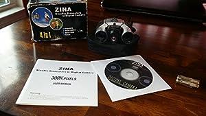 Zina Binopix 10 X Magnification Binoculars w/ Digital Camera