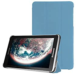 Lenovo S5000 Case, ARMOR BLUE Leather Flip Cover Book Case with magnetic closure for Lenovo S5000