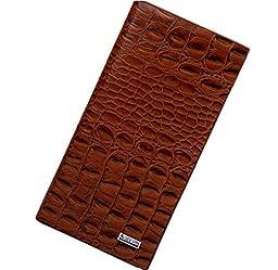 Damast Man Purse the Crocodile Grain Wallet Long, Vertical, Horizontal, Three Perfect (Long pattern)
