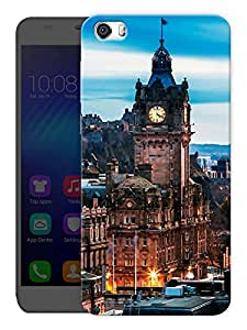 "Humor Gang London Big Ben View Printed Designer Mobile Back Cover For ""Huawei Honor 6"" (3D, Matte, Premium Quality Snap On Case)"