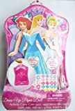 Disney Princess Magnetic Paper Doll Activity Kit with Carry Case - Ariel, Aurora, Cinderella