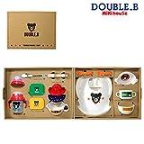 【ミキハウス包装紙でラッピング済み】 ダブルB 箱付 食洗機OK テーブルウェアセット(ベビー食器セット) 66-7013-959 日本製