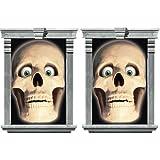 Amscan International Decorating Window Magic Skull