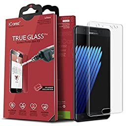 iCarez [3D Glass Full Screen Coverage] Screen Protector for Samsung Galaxy Note 7 with Lifetime Replacement Garranty [1-Pack ] -Retail Packaging