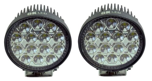 """6Kled 342S (Pack Of 2) 42W 4.5"""" Round Led Spot Light Off Road Lighting 12Volt 24Volt Off Road 4X4 Quad Atv Lighting 8Degree Beam"""