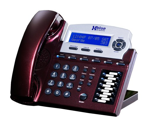 XBlue X16 Small Office Phone System 6 Line Digital Speakerphone - Red Mahogany (XB1670-76)