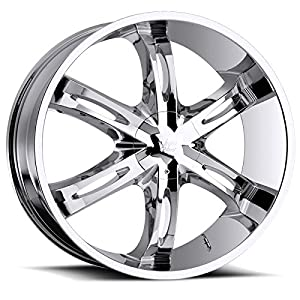 Vision Hollywood 6 26 Chrome Wheel / Rim 6x135 & 6x5.5 with a 30mm Offset and a 87 Hub Bore. Partnumber 436-2693C30
