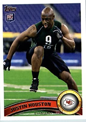 2011 Topps Football Card #251 Justin Houston RC - Kansas City Chiefs (RC - Rookie Card) NFL Trading Card