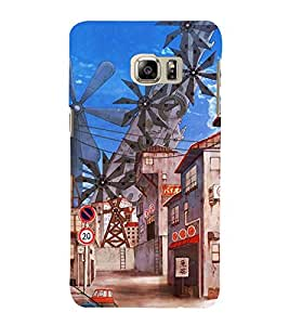 ANIMATED MULTIPLE WIND MILLS PIC 3D Hard Polycarbonate Designer Back Case Cover for Samsung Galaxy Note 5 Edge