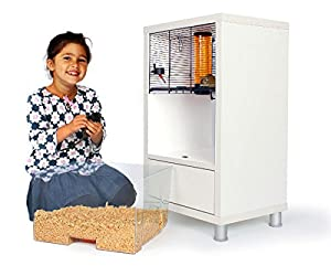 Omlet White QUTE Gerbil and Hamster Cage with Storage