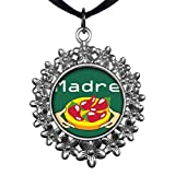 GiftJewelryShop Ancient Style Silver Plate Madre Chili Peppers Christmas Wreath Charm Pendant Necklace