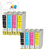 Premier Ink T1285 / E1285 - 8 Compatible Printer Ink Cartridges For Epson Stylus Office Bx305F, 305Fw, Epson Stylus S22, Sx125, Sx130, Sx230, Sx235W, Sx420W, Sx425W, Sx430W, Sx435W, Sx438W, Sx440W, Sx445W, Sx125,