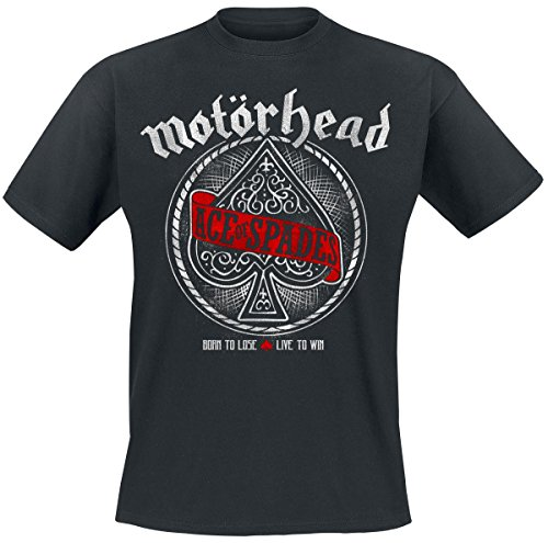 Motörhead Ace Of Spades Red Banner T-Shirt nero L