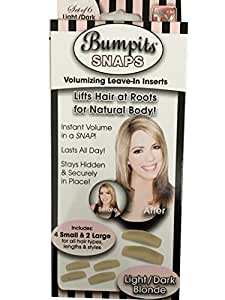Bumpits Snaps Hair Volumizing Leave In Inserts,Light/Dark Blonde Lifts Hair At Roots For Natural Volume