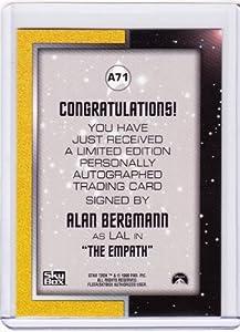 Star Trek TOS Alan Bergmann A71 Autograph Card
