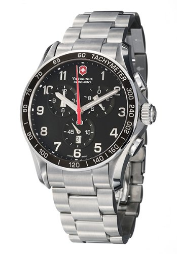 Victorinox Swiss Army Men's 241199 Classic XLS Chronograph Black Dial Watch