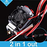 GIMAX Mellow 12v/24v Cyclops and Chimera Extruder 2 in 1 Out 2 Colors Hotend Bowden with Titan/Bulldog Extruder for 3D Printer I3 - (Size: 12V) (Color: 12V)