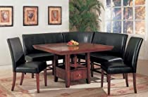 Hot Sale 6pc Dining Table & Parson Chairs Espresso Finish Set