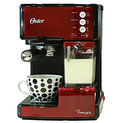 Oster BVSTEN6601R-049 1050-Watt Prima Espresso and Latte Maker (Red)