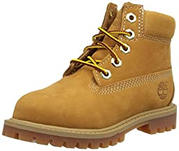 Timberland 6 Inch Premium with Faux Shearling Boot Closure (Toddler/Little Kid/Big Kid), Wheat Nubuck, 6 M US Toddler