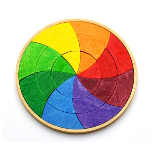 Grimm's Small Circle of Goethe - Color Wheel Wooden Mini Creative Puzzle