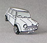 Metal Enamel Pin Badge Brooch White Mini Style Car