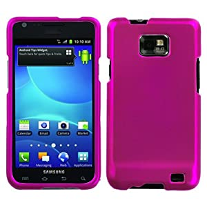 Asmyna SAMI777HPCSO212NP Titanium Premium Durable Rubberized Protective Case for Samsung Galaxy S II/SGH-i777 - 1 Pack - Retail Packaging - Hot Pink