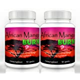 African Mango Burn (2 Bottles) - The Ultimate African Mango Fat Burning Supplement. Pure Irvingia Gabonensis Weight Loss, Appetite Suppressing Diet Pill ~ African Mango Burn