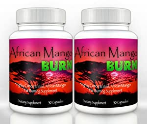 African Mango Burn (2 Bottles) - The Ultimate African Mango Fat Burning Supplement. Pure Irvingia Gabonensis Weight Loss, Appetite Suppressing Diet Pill
