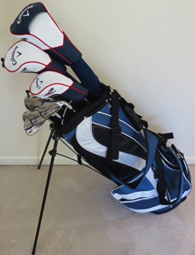 Mens RH Callaway Complete Golf Set Clubs Driver, Fairway Wood, Hybrid, Irons, Putter, Stand Bag Stiff (Extra Stiff Golf Clubs compare prices)