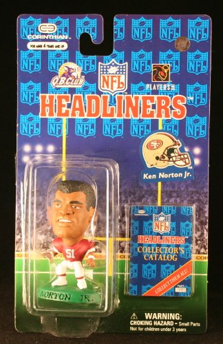 KEN NORTON JR. / SAN FRANCISCO 49ERS * 3 INCH * 1997 NFL Headliners Football Collector Figure