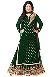 Palak Designer Presents Georgette Party Wear Palazzo Pant Suit in Green Colour