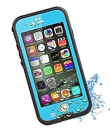 HESGI New Design iPhone 6 4.7 inch Waterproof Case [New Design Version] 6.6ft Underwater Waterproof Shockproof Snowproof Dirtpoof Protection Case,Light Blue