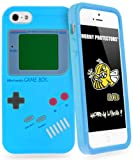 Horny Protectors® Cover Case retro style Nintendo Game Boy for Apple iPhone 5/5S lightblue silicon