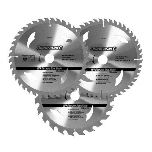 silverline-set-di-lame-per-sega-circolare-in-metallo-duro-408979-3-pz