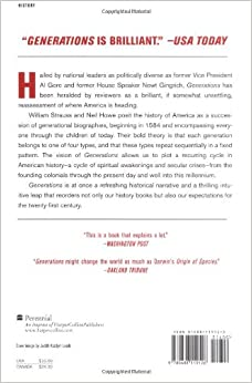 Amazon.com: Generations: The History of America's Future, 1584 to 2069 (9780688119126): Neil Howe, William Strauss: Books