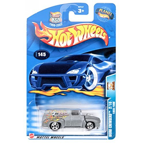 Mattel Hot Wheels 2003 1:64 Scale Silver Work Crewsers 1956 Ford Die Cast Car #145 - 1