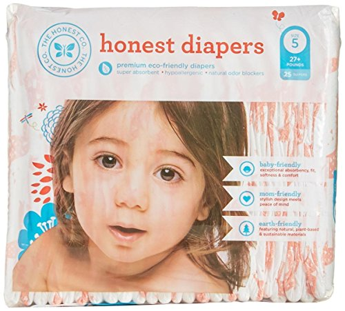 The Honest Company Disposable Diapers - Giraffe - Size 5 - 25 ct - 1