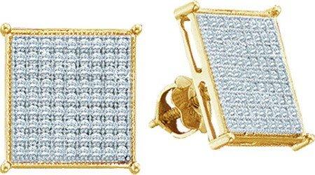 Real Diamond Earrings 0.15ctw Diamond Micro Pave
