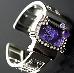 Purple Hello Kitty Wrist Watch Bracelet Bangle