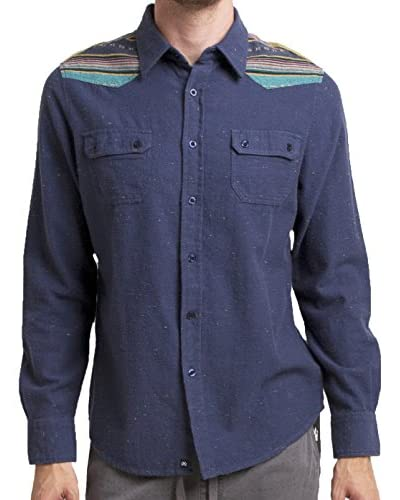 Micros Men's Meadow Long Sleeve Flannel Shirt with Flap Pockets