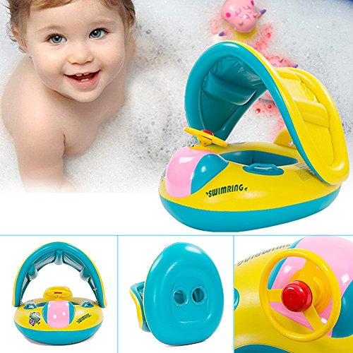 2016 newest sealive Swimming Pool Boat Ring Raft Float Tube Seat Baby Kids Toddler ,Baby Cute bath floats and Swim ring of pool toys for 1-3 years old with CE&FDA approved