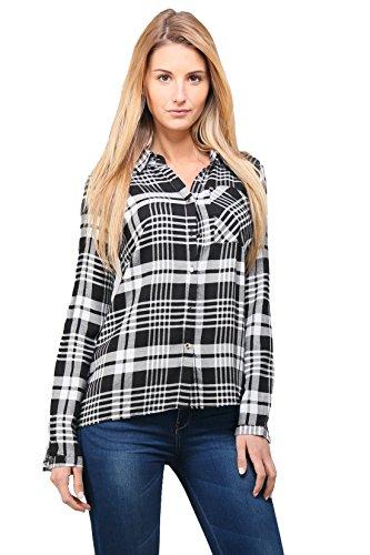 relax-cl5052-chemise-femme-manche-longue-ample-large-poche-fluide-carreaux-bicolore-noir-l