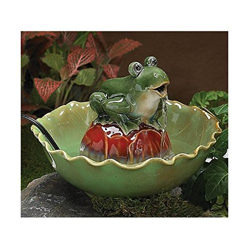 Indoor Frog Water Fountain Bowl Green Tabletop (Frog Tabletop Fountain compare prices)