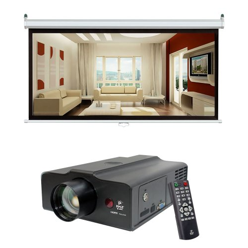 Cheap pyle video projector and screen package prjle60 for Best portable projector for movies