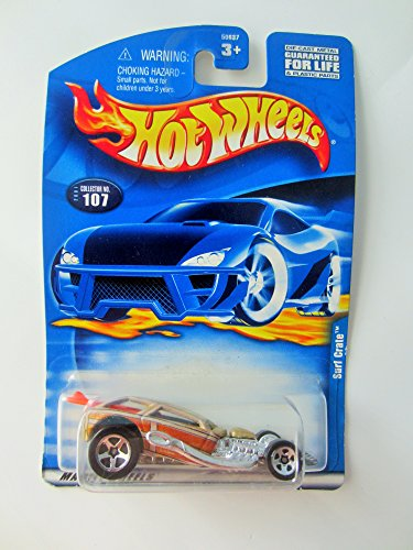 Mattel Hot Wheels 2000 : Surf Crate w/surfboard: Lilac 1:64 Scale Die Cast Car : #107-Collector