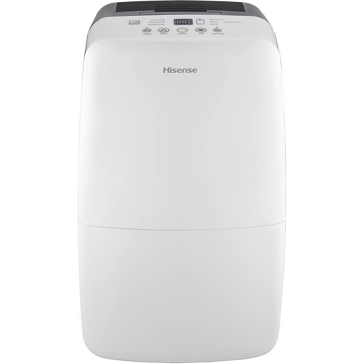 Hisense DH-50KP1SDLE Energy Star 50-Pint 2-Speed Dehumidifier with Built-In Pump